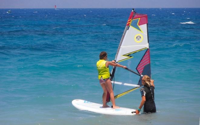 Punta pellaro windsurf prima lezione