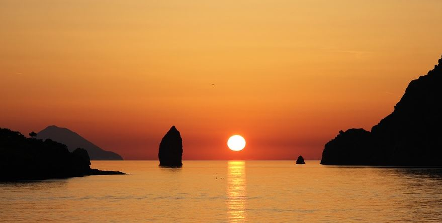 tramonto eolie