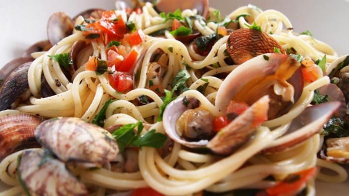 Spaghetti alle vongole la griglia pellaro